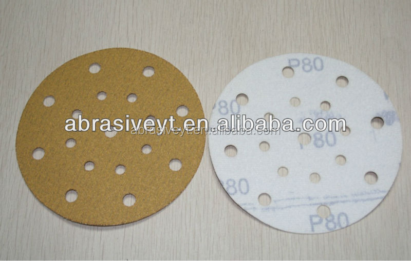 flocking attached backing sanding disc for polishing