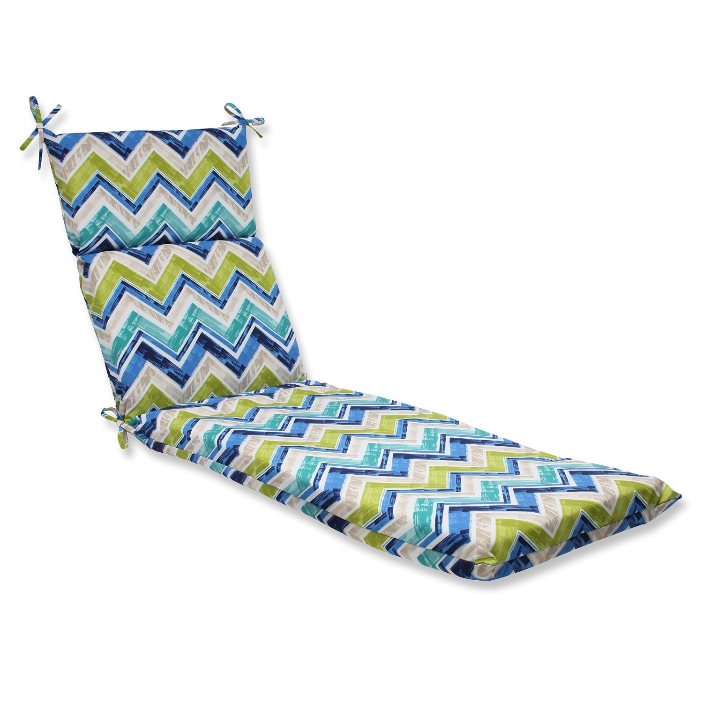 Pillow Perfect Outdoor Marquesa Chaise Lounge Cushion, Marine