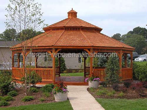 Creux Toit Gazebo Kiosque En Plein Air Bois Bois Cadre Gazebos Arches Pavillon Pergola Et