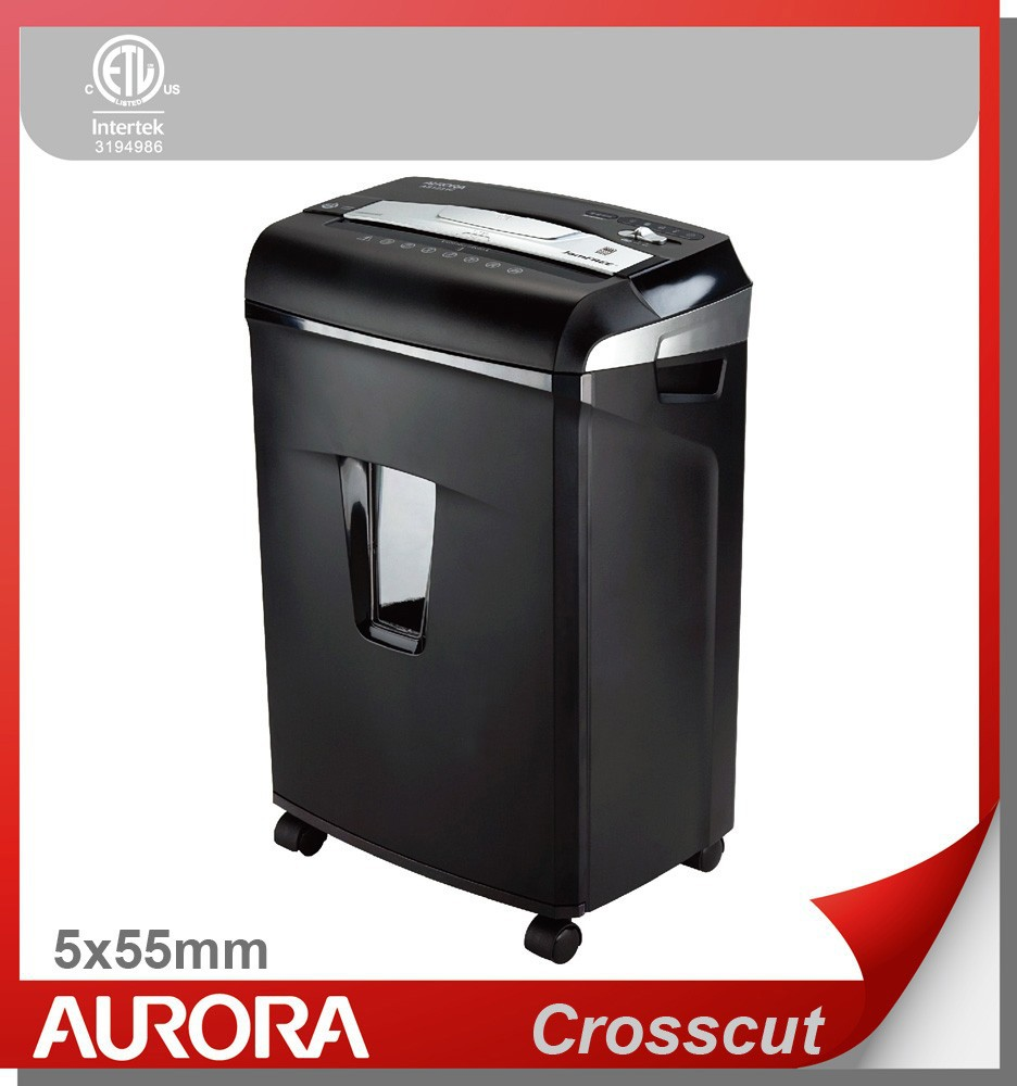 Aurora as1231c/as1031c plastic papiervernietiger, 12/10sheet( a4) cross-cut 5x55 mm, medium dutyshredding machine voor kantoor