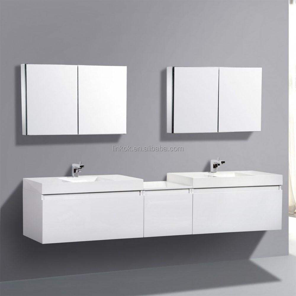 Amerika top verkoop nieuwe badkamer ontwerp muur gehangen dubbele ...