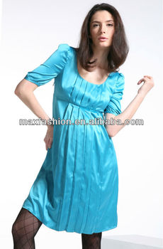 502fe3a419d Blue Maternity Dress Empire Waist Pregnancy Cloth - Buy Maternity ...
