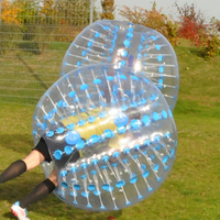 plastic PVCinflatable human electric bubble soccer ball