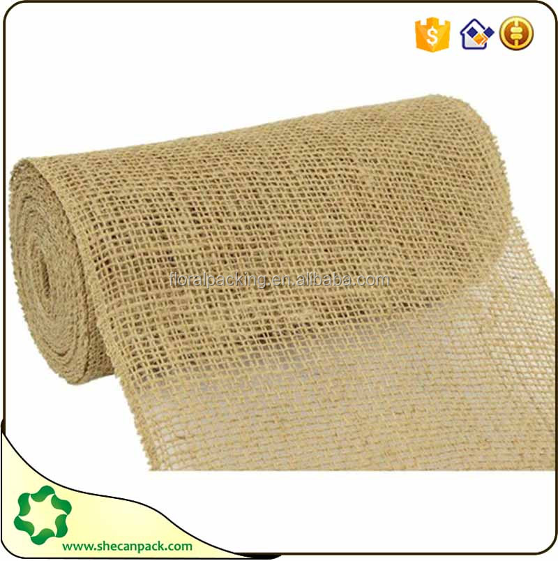 simple design plain jute roll fabric