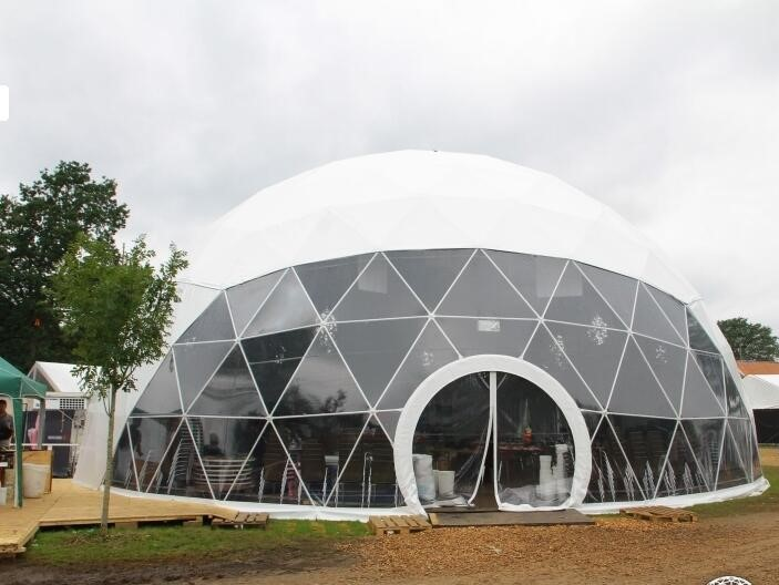Hot Galvanized Steel Tube Frame Party Canvas Dome Tents