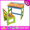 Best school table school chair for kids,school desk student table chair set,wooden toy school table and chairs set WJ278051
