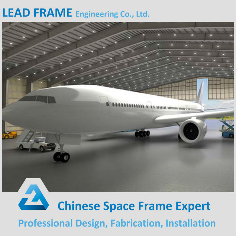 Galvanized Arch Roof Prefabricated Structural Steel Aircraft Hangar Prices