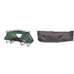 Kamp-Rite Oversize Tent Cot and Kamp-Rite Tent Cot Gear Storage Bag (Black) Bundle