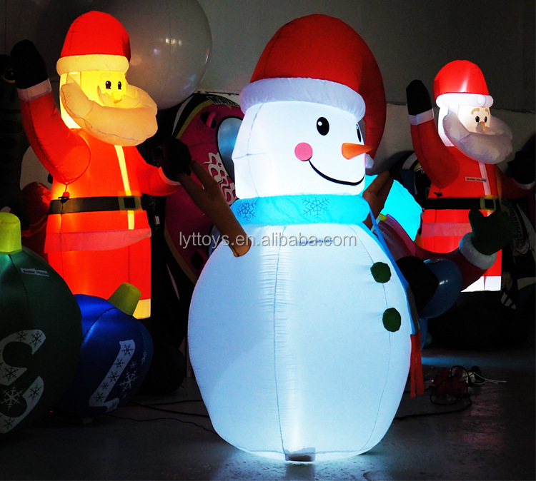 Cute  decoration 20ft snowman inflatable christmas reindeer for stage walking
