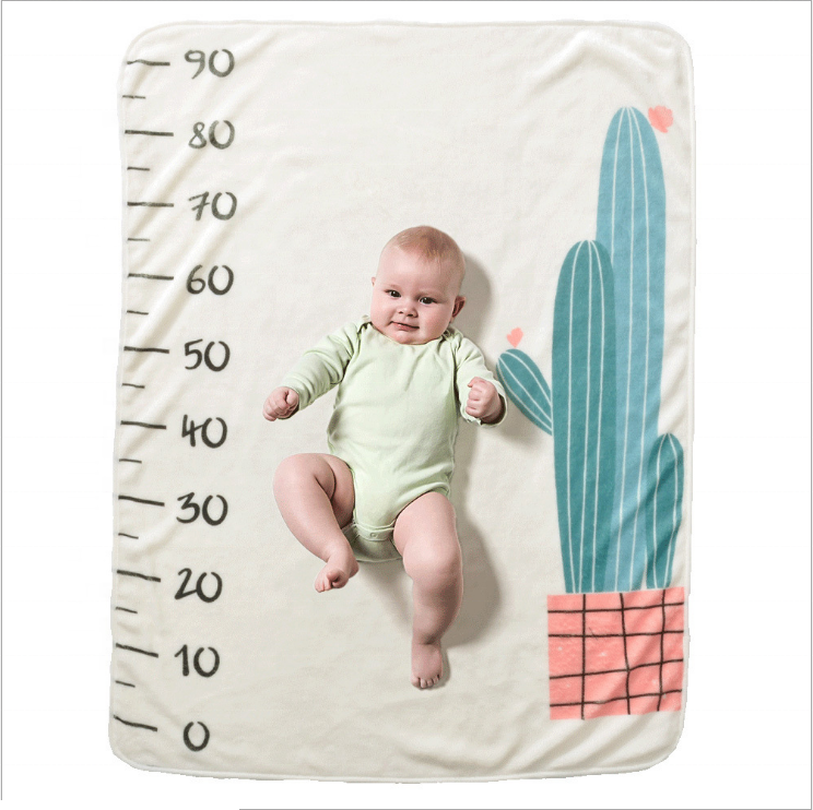 Newborn Photography Prop Swaddle Monthly Milestone Baby Blanket
