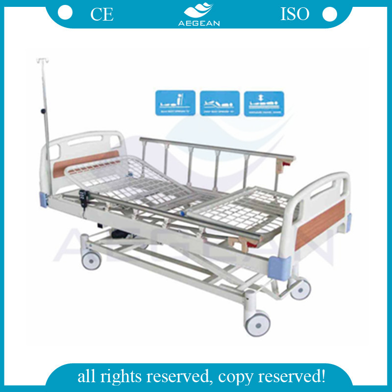 AG-BM106 CE ISO ABS bored adjustable 3 function electric hospital home care bed