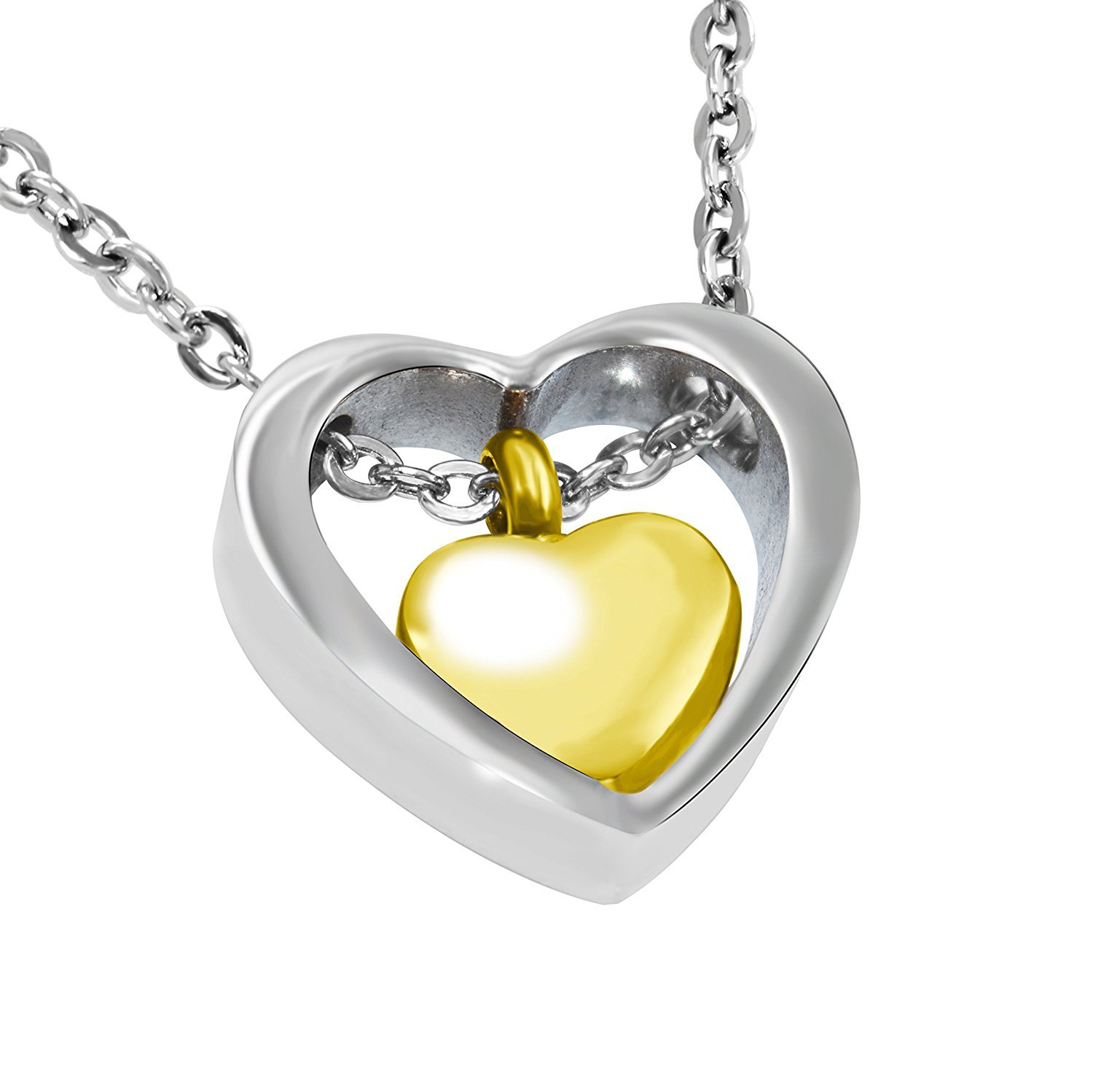 Cheap cremation ash pendant find cremation ash pendant deals on gold heart in heart titanium steel 316l stainless steel ash pendant cremation jewelry urn mozeypictures Choice Image