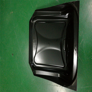 High quality square black plastic printer cover of vacuum thermformed