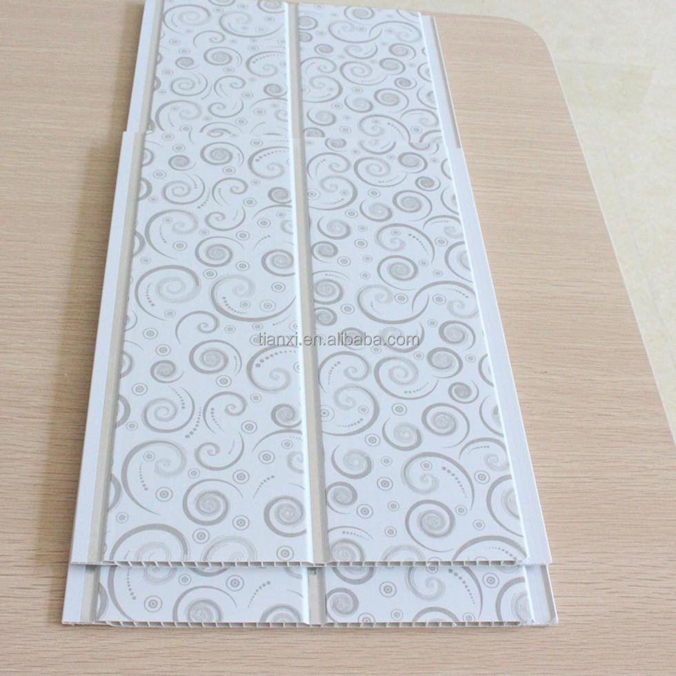 25 cm medio groove pvc falso techo decorativo for Revestimiento pared bano pvc