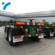 Container transportation cheap container skeleton semi truck trailer 3 axle cargo trailer