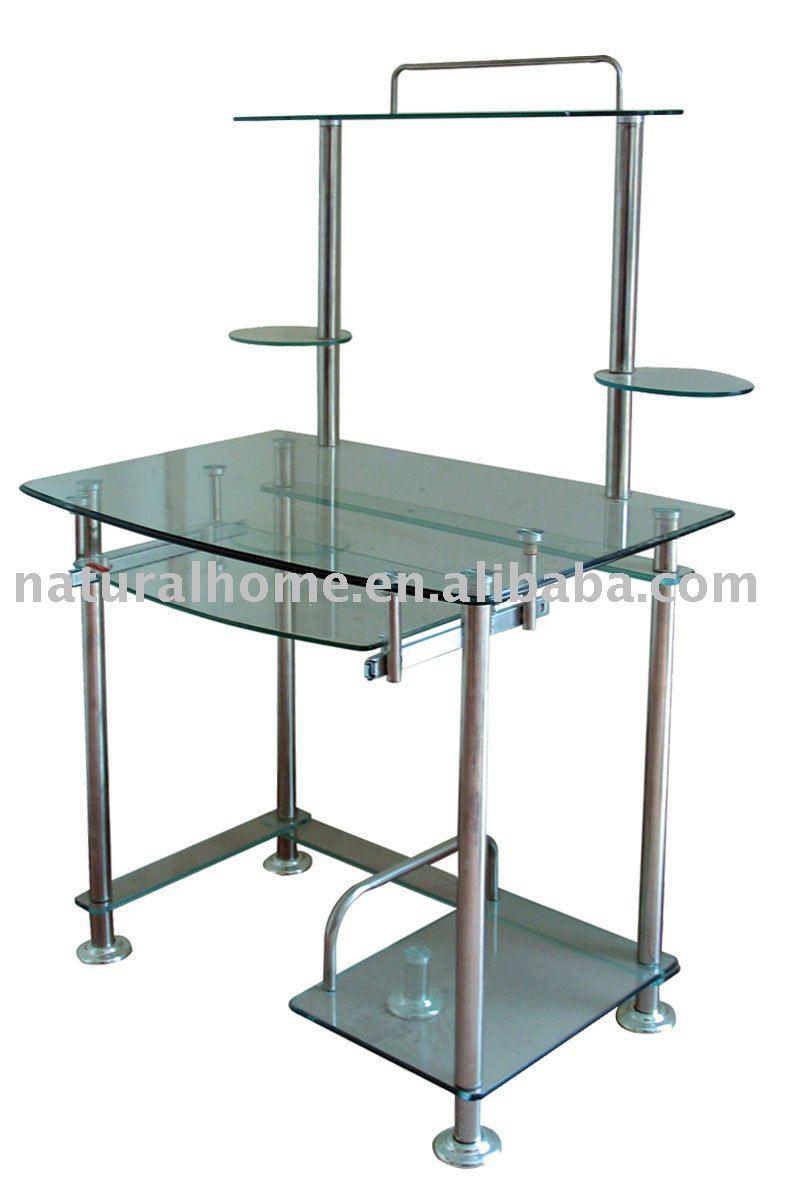Glass Steel Computer Table Ktyf 84011
