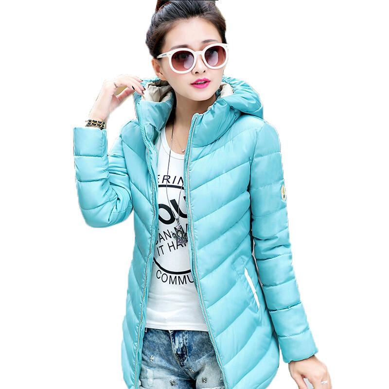 М-3xl Большой размер женщин мода пуховик осень зима верхняя одежда женщин с капюшоном светло-тонкий куртки шинель DY393