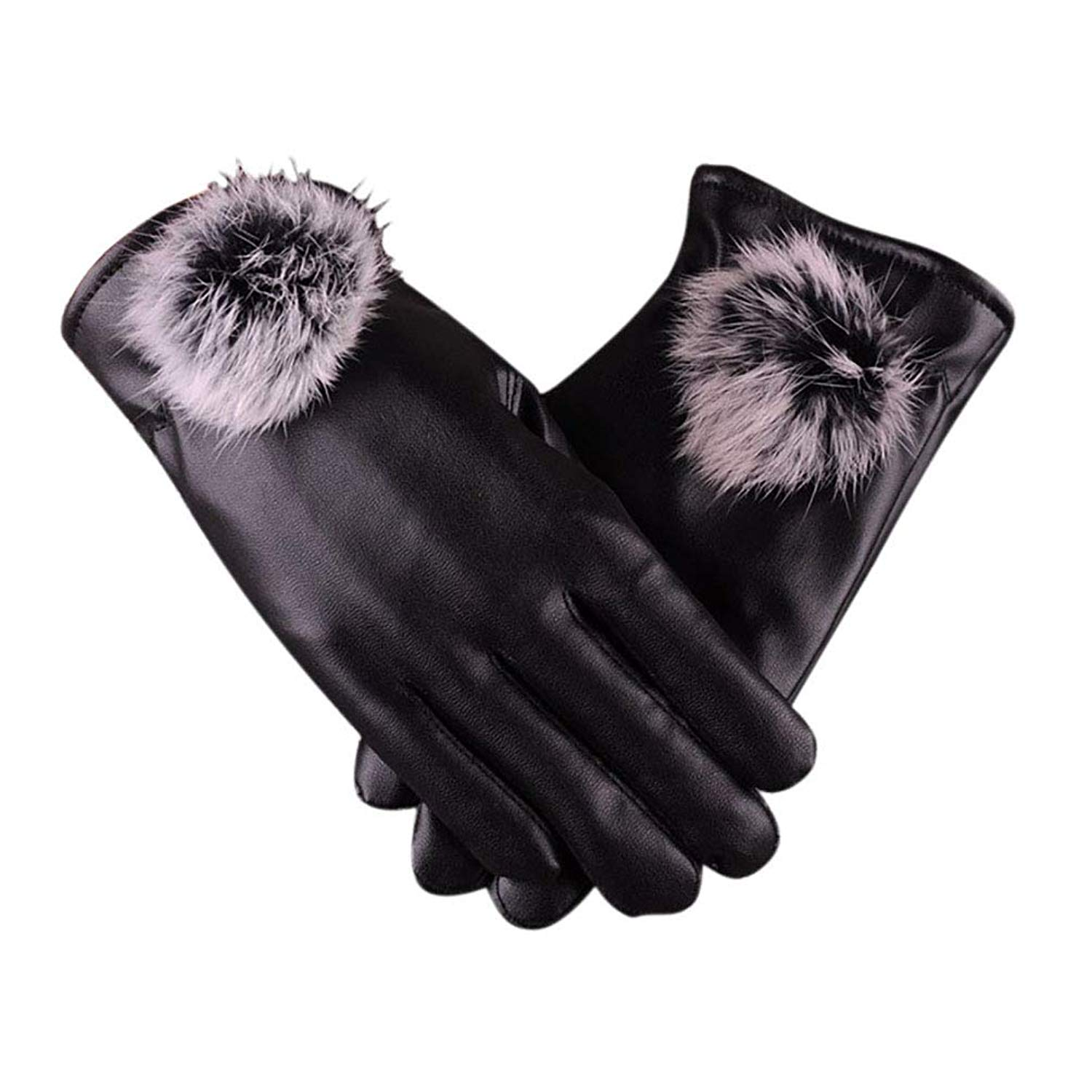 MINGXIN mens genuine nappa lambskin leather gloves outdoors motorcycle cashmere