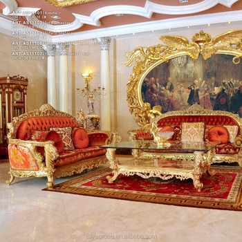 Royal Furniture European Style Sofa Set Arabic Living Room Amf9104
