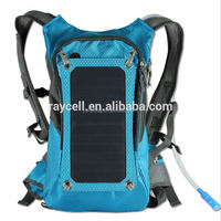 2016 new style solar charger bag cycling 6w solar panel backpack 2l hydration bag