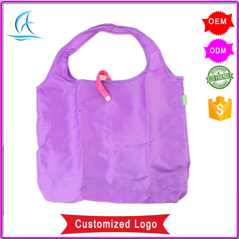 Fashion Custom Foldable Waterproof Polyester Tote Shopping Bag