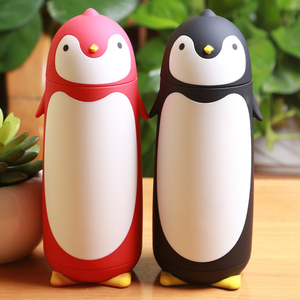 New creative penguin shape thermos cup stainless steel thermos kawaii vacuum flask cup