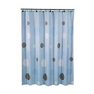 Get Quotations · Tiddliwinks Shower Curtain   Mod Blue/ Brown