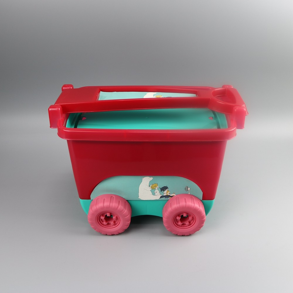 Cute Car Shaped Storage Box With Wheels