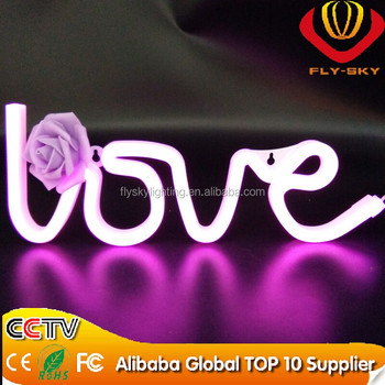 new custom indoor led advertising unbreakable faux neon signs for decoration