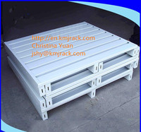 Sale stainless steel galvanized heavy duty stackable metal pallet for warehouse storage