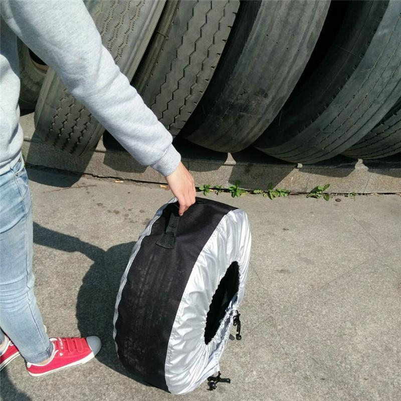 Plastic car tyre wheel cover/customized tyre cover bag made in Chinawith free samples