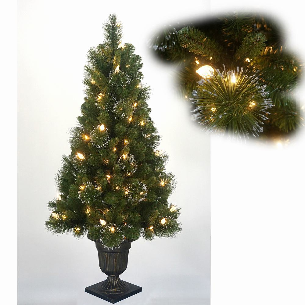 California Pine Unique Artificial Flocked Christmas Tree ...