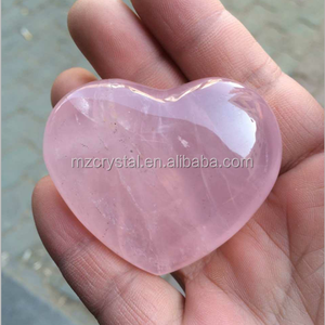 Wholesale Natural Pink Heart Shaped Rose Quartz Crystal Healing Chakra Stone