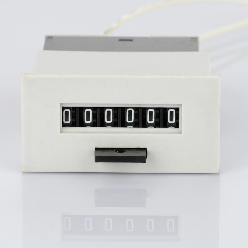 Lfc-6s 6 Digit AC 220V 110V DC 12V 24V volt Electromagnetic counter  With Zero Clear Counter punch Counter Meter
