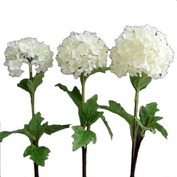 New Mold Artificial Snowball Flower Stem White Wedding Flower
