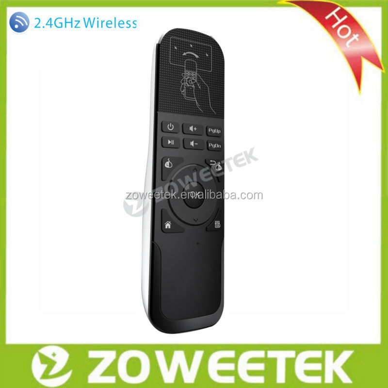 ISO9001 Factory Wholesale G-sensor RF 2.4g air mouse for android tv box
