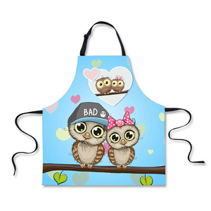 Customized size cartoon 50% polyester 50% cotton children aprons