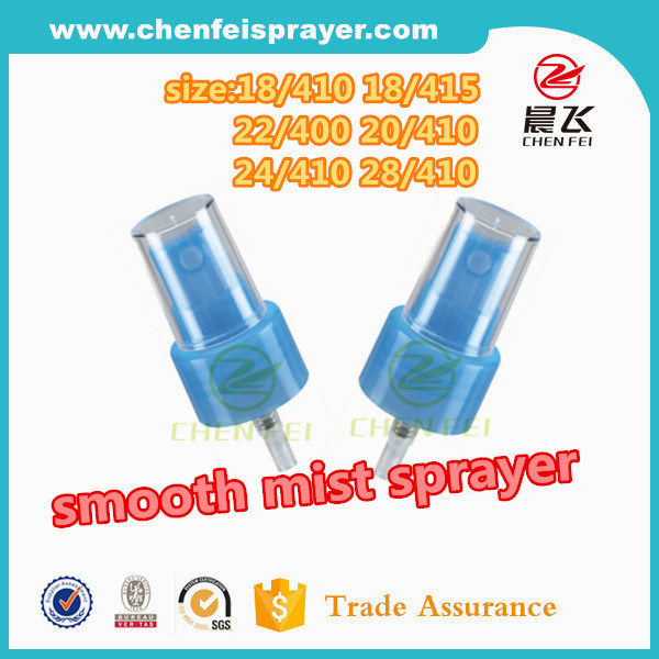 Smooth closure 18mm 20mm 24mm 28mm plastic fine mist sprayer from Yuayo factory