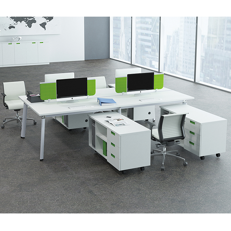 Industrial workbench manufacturer MFC board office workstation for 4 person