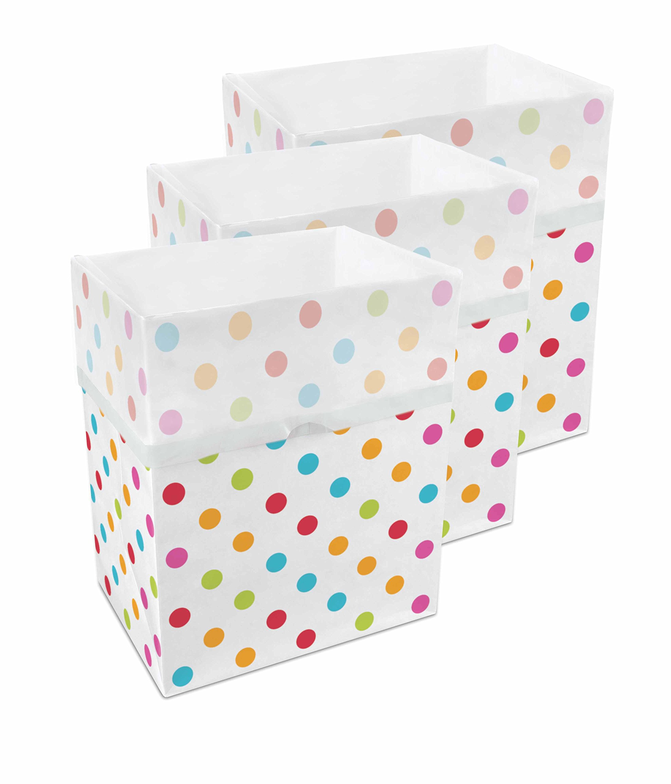 disposable trash cans. Get Quotations · Clean Cubes Disposable Trash Cans \u0026 Recycling Bins 3 Pack Polka Dot