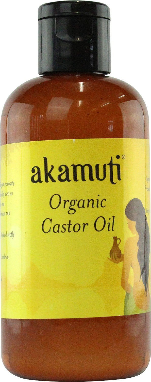 AKAMUTI - Organic Castor Oil - For healthy looking & shiny hair - Ideal as soothing facial cleanser - VEGAN