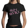 Got dirt ladies t-shirt rhinestone design