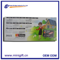 2017 custom design magnetic monthly dry erase wall calendar for promotion