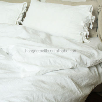 Great Stone Washed Linen Bedding Set, Vintage Washed Belgian Linen Bed Sheets