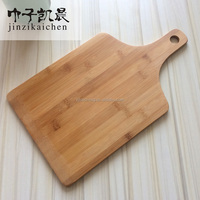 New Design Hot Sale Paddle Shaped Bamboo Pizza Chopping Board