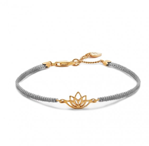 2019 New Collection Sweet Romance Lotus Flower Gold Friendship Bracelet - Grey