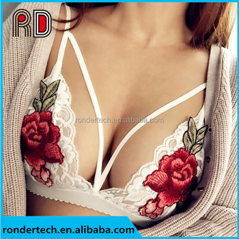 Lace Bra Top Sheer Mesh Bralette Soft Cups Triangle Brassiere Handmade  Lingerie Fashion Crop Top 20df7d0a7