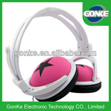 pink big star computer headphone earphone