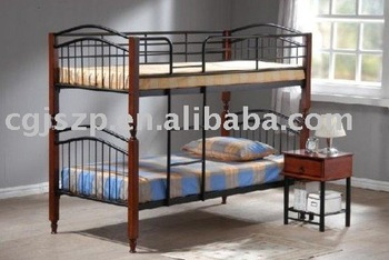 Metal And Wood Twin Futon Bunk Beds With Ladders Mbd112 Buy Metal