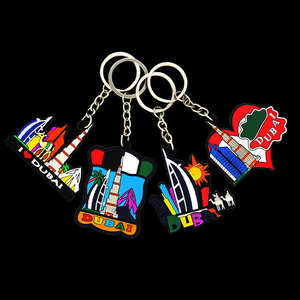 2D 3D cartoon travel rubber keychain,soft PVC plastic enamel epoxy tourist souvenir key chain buckle ring tag keyring keyholder